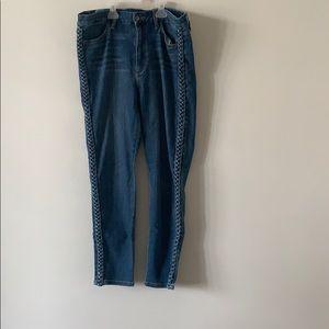 Joe's Charlie High Rise Skinny Jeans Blue Size 32